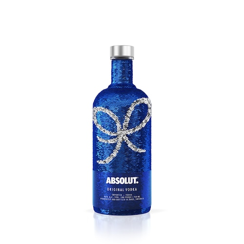 Absolut Uncover Sequin Version with Bow White 750ml.jpg