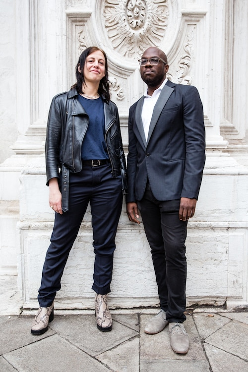 Anne Imhof and Huey Copeland, 2017 Absolut Art Award Winners for Art Work and Art Writing, Venice 2017, Courtesy Absolut.jpg