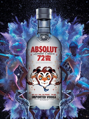 Bottle of Absolut 72 Bian