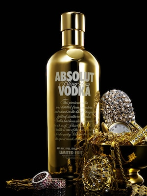 Bottle of Absolut Bling-Bling