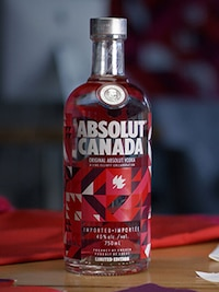 Bottle of Absolut Canada