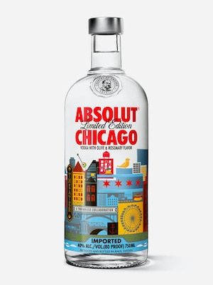 Bottle of Absolut Chicago