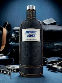 Bottle of Absolut Denim