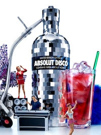 Bottle of Absolut Disco