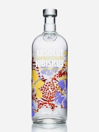 Bottle of Absolut Hibiskus
