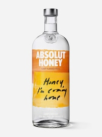 Bottle of Absolut Honey