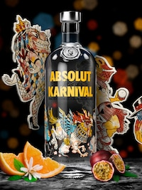 Bottle of Absolut Karnival