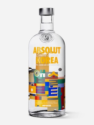 Bottle of Absolut Korea