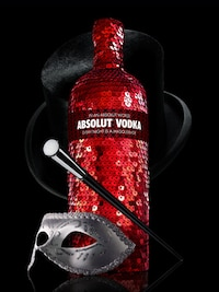 Bottle of Absolut Masquerade