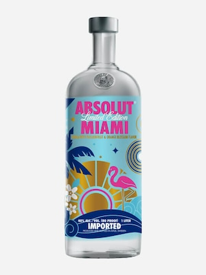 Bottle of Absolut Miami