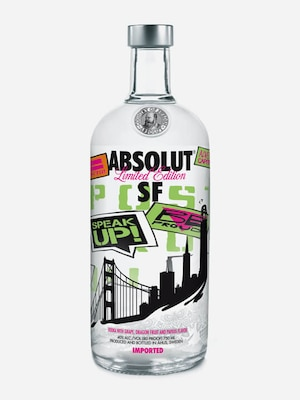 Bottle of Absolut San Francisco