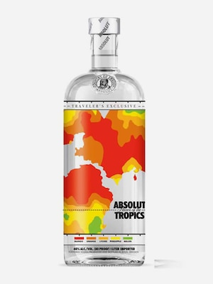 Bottle of Absolut Tropics