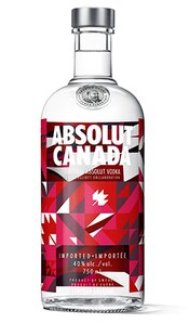 Absolut Canada against white background