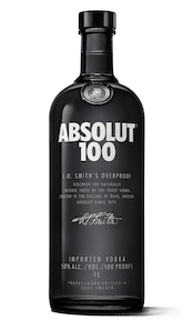 Absolut 100 against white background