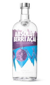 Absolut Berri Açai against white background