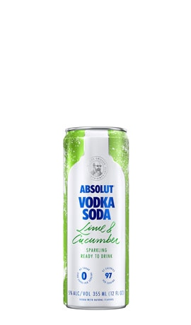 Absolut Vodka Soda Lime & Cucumber