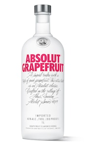 Absolut Grapefruit against white background