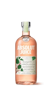 Absolut Juice Rhubarb against white background