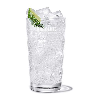 Absolut Lime and Soda