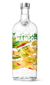 Absolut Mango against white background
