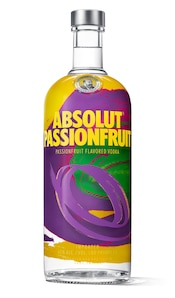 Absolut Passionfruit against white background