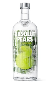 Absolut Pears against white background