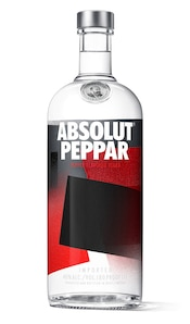 Absolut Peppar against white background