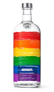 Absolut Rainbow against white background