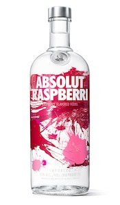 Absolut Raspberri against white background