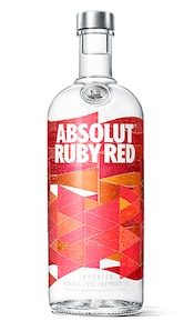 Absolut Ruby Red against white background