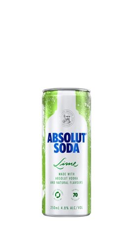 Absolut Vodka Soda & Lime