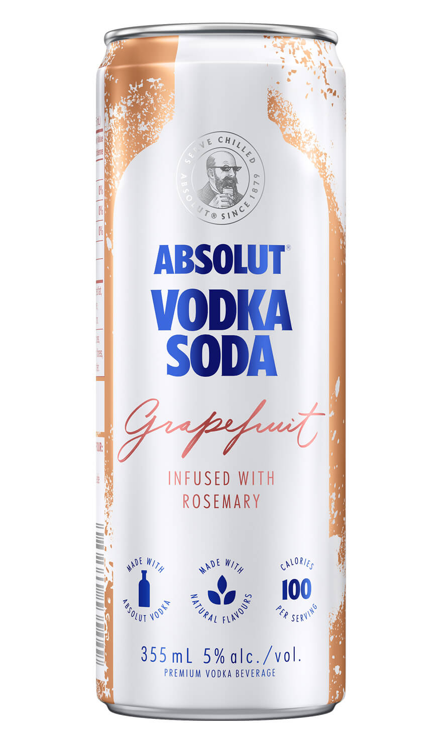 Absolut Vodka Soda Grapefruit & Rosemary